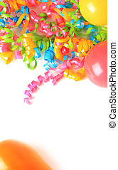 Birthday balloons and ribbons - Birthday ribbons and...