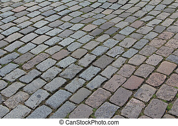 Cobble stones - Old Cobble stone street in the Netherlands