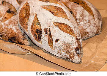 artisan bread with olives