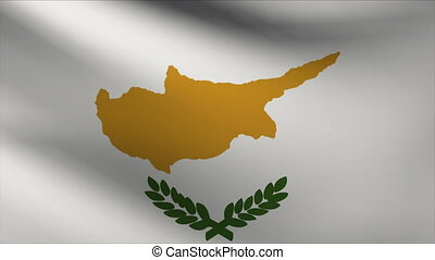 cyprus flag waving gently in wind
