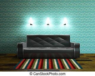 Interior room with sofa
