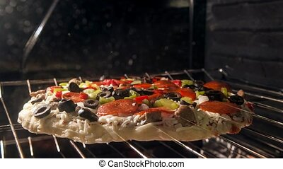 Rising Crust Pizza Time-lapse - Pizza in the oven Time-lapse...