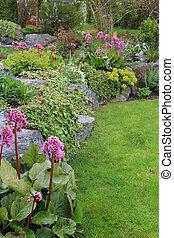 Spring garden - Beautiful Spring garden perennial bed. Also...
