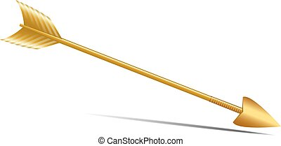 Golden Arrow - Isolated Arrows on a white background