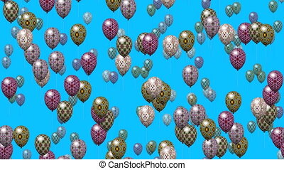 Easter eggs balloons seamless loop - Easter eggs balloons...