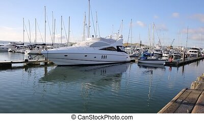 Boats and yachts Poole harbour PAN - Boats and yachts Poole...