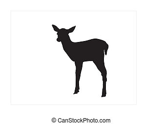 fawn silhouette - this is a black silhouette from a nice...