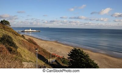 Bournemouth beach pier and coast uk - Bournemouth beach pier...