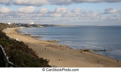 Branksome beach Poole Dorset uk - Branksome beach Poole...
