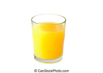Glass of orange juice - Picture of a full glass of orange...