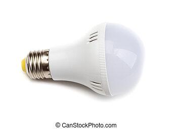 White Lightbulb Isolated on White Background - Round LED...