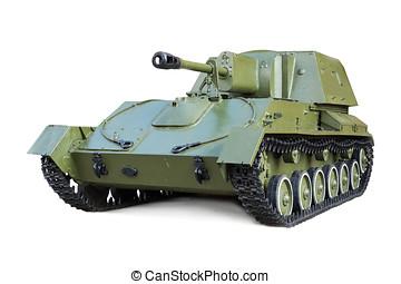 soviético, autopropulsado, artillería, monte,...