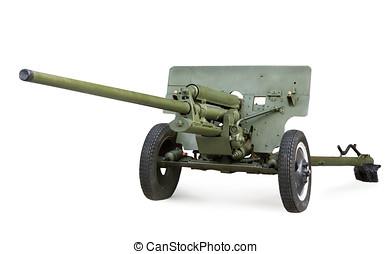 Soviet anti-tank 57-mm gun ZIS-2 during the Second World War...