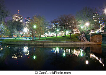 Boston Public Garden Swan Pond