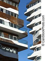 Modern residential buildings in Milan