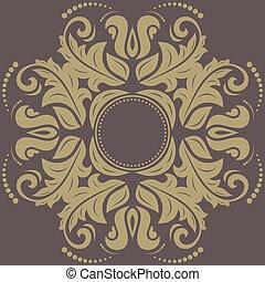 Damask Pattern. Orient Background - Damask floral pattern...