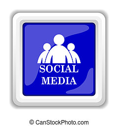 Social media icon Internet button on white background