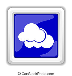 Clouds icon Internet button on white background