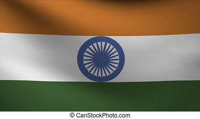 india flag waving gently in wind