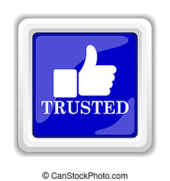Trusted icon. Internet button on white background.