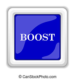 Boost icon Internet button on white background