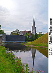 St Albans church in Copenhagen, Denmark View of Sankt Albans...