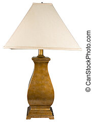 Gold Painted Table Lamp - Contemporary Gold Painted Table...