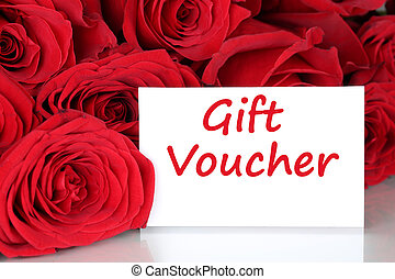 Gift voucher for birthday, Valentine's or mothers day - Red...