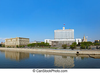 Moscow Panorama - White House - center of Russian government - R