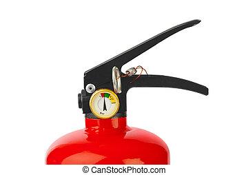 rojo, fuego, Extintor,