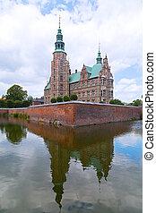 Renaissance style Rosenborg Castle in Copenhagen, Denmark...