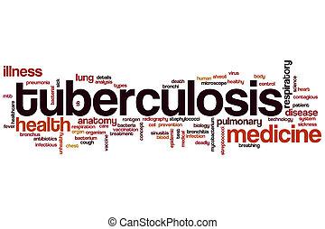 tuberculosis, palabra, nube,