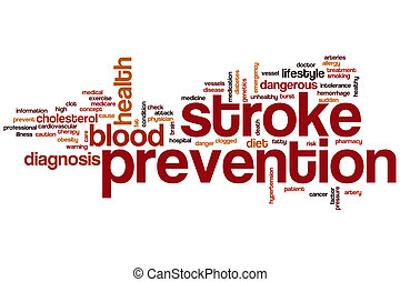 Stroke prevention word cloud concept