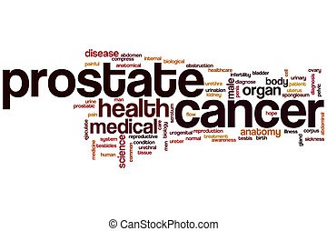 Prostate cancer word cloud concept