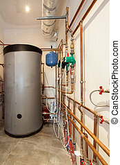 Plumbing system - Photo of houses plumbing system located in...