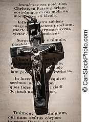 Crucifix and Holy Bible