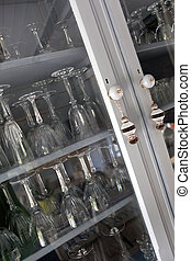 Cupboard - Glasses in an old cupboard