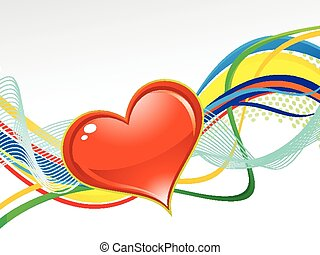 abstract artistic colorful love background vector...