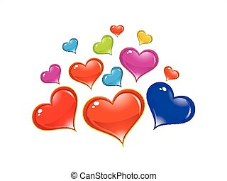 abstract artistic shiny colorful heart background vector...