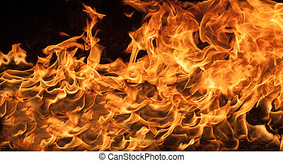 Beautiful stylish fire flames, close-up