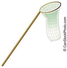 Butterfly net - illustration drawing of a butterfly net...