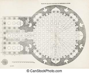 Pantheon in Rome I - Plan du rez de chaussee du Pantheon a...