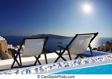 Santorini island in Greece, Europe