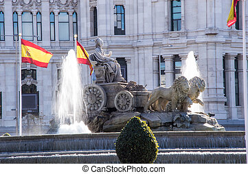 Source Cibeles Madrid Spain in tne morning
