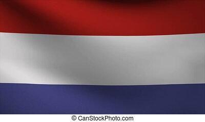 netherlands flag waving gently in wind
