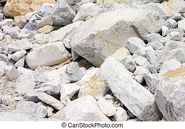 Carrara  marble stone pit