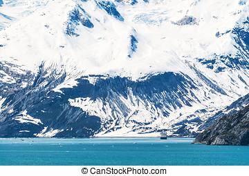 Glaciär, Parkera, medborgare,  alaska, vik