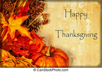 Happy Thanksgiving Card - A Happy Thanksgiving card, with...