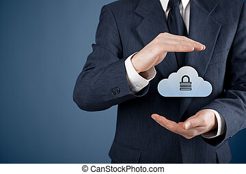 Cloud data security - Cloud storage security concept...