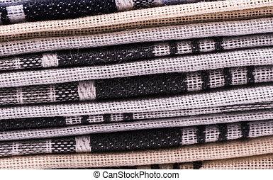 Shawl - image of folded shawl macro cloue up